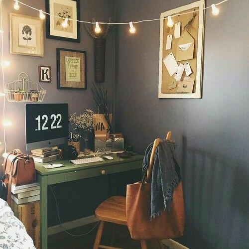 espace bureau dans la chambre