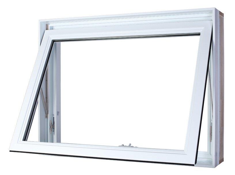 Vaillancourt Portes et Fenêtres / fenêtre à auvent pvc blanc